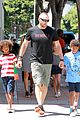 heidi klum martin kirsten beach bike ride with kids 24