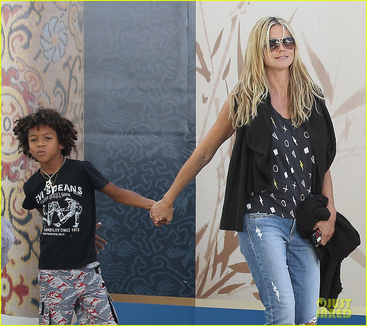heidi klum enjoys family movie afternoon 132923807