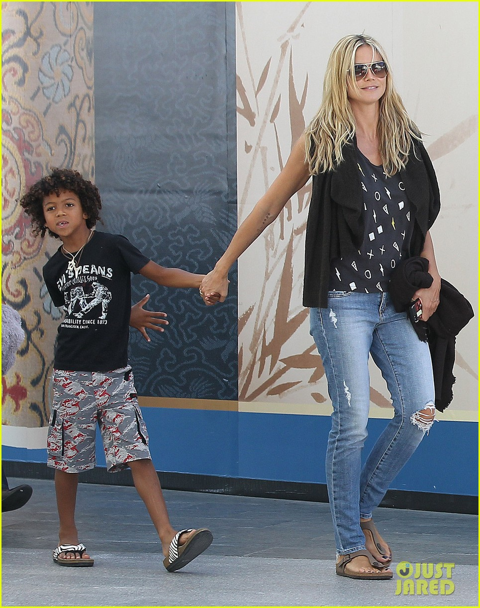heidi klum enjoys family movie afternoon 142923808