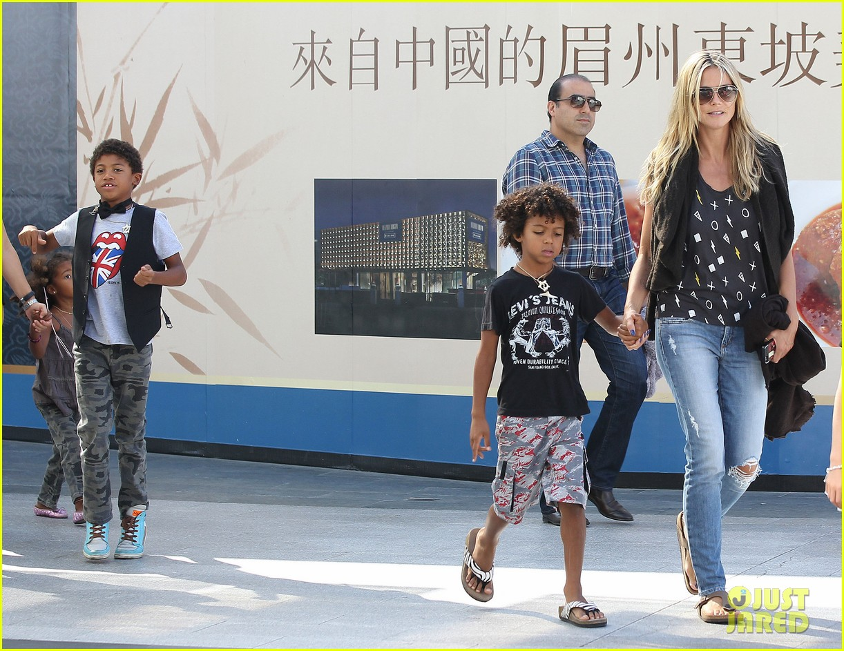 heidi klum enjoys family movie afternoon 172923811