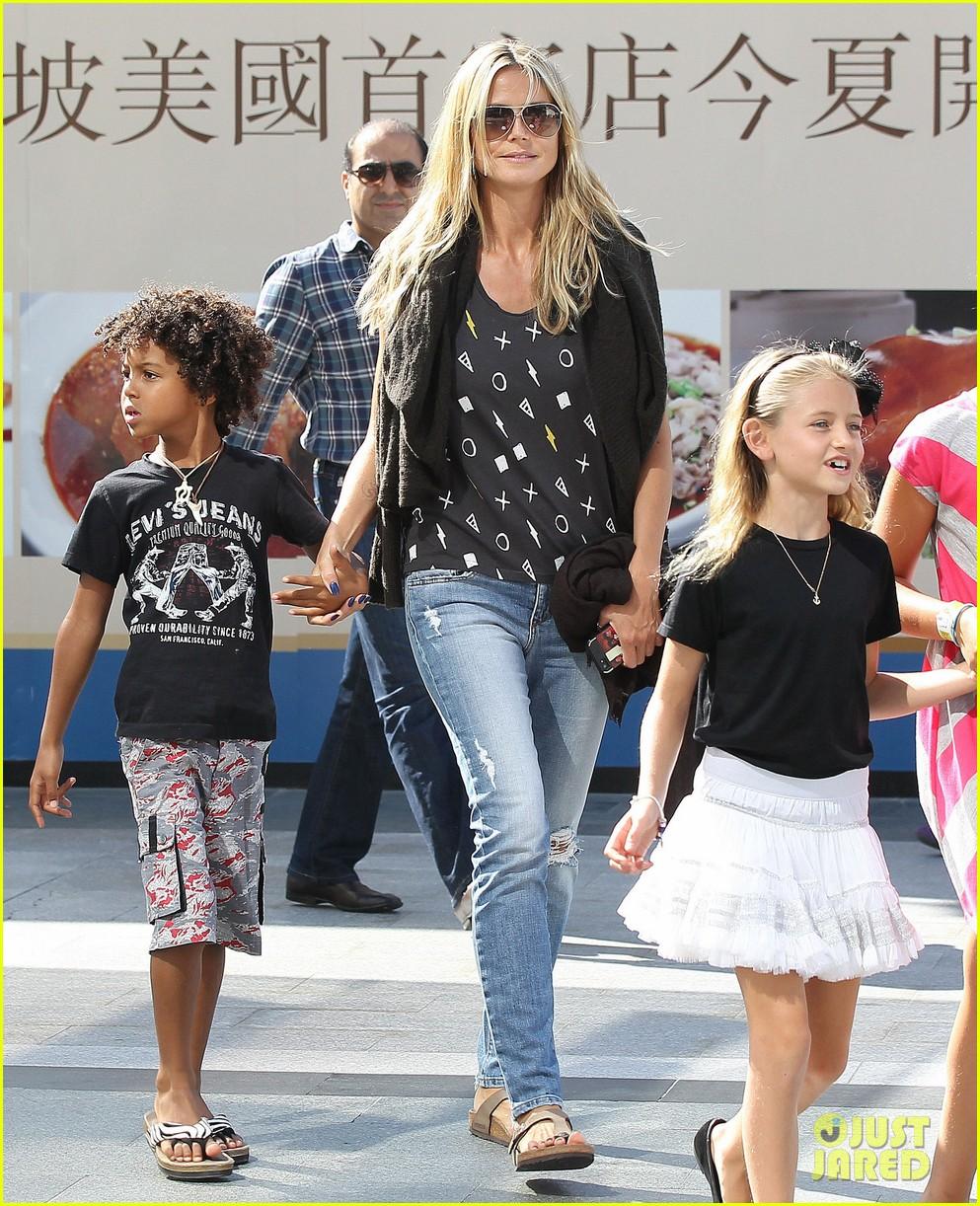 heidi klum enjoys family movie afternoon 212923815