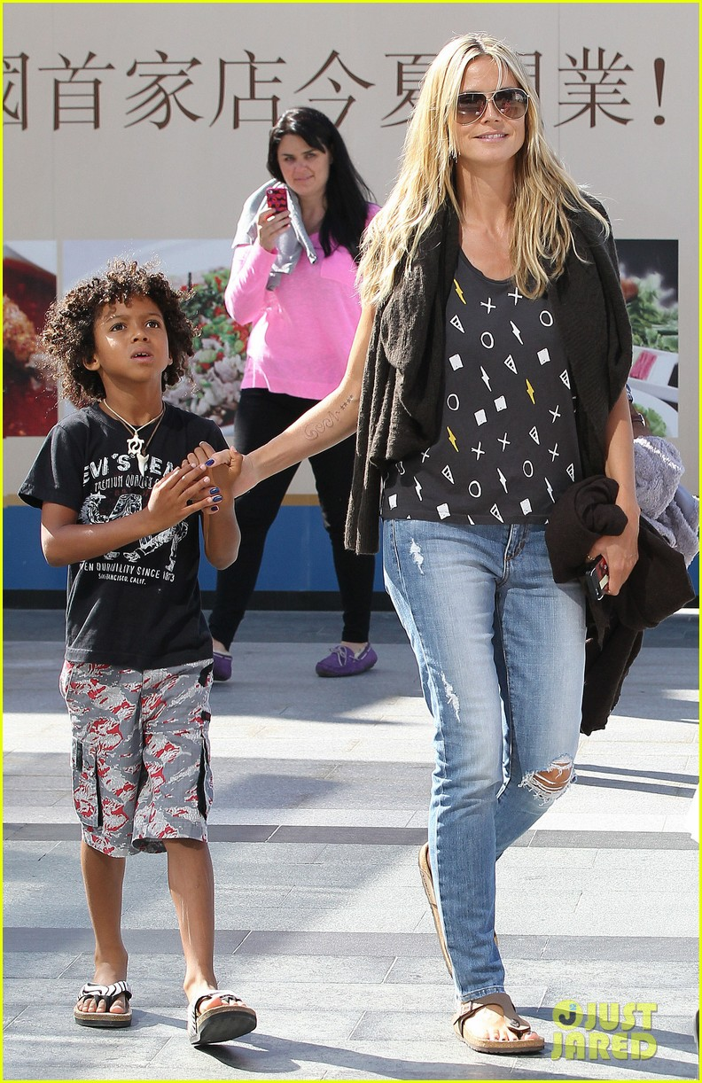 heidi klum enjoys family movie afternoon 232923817