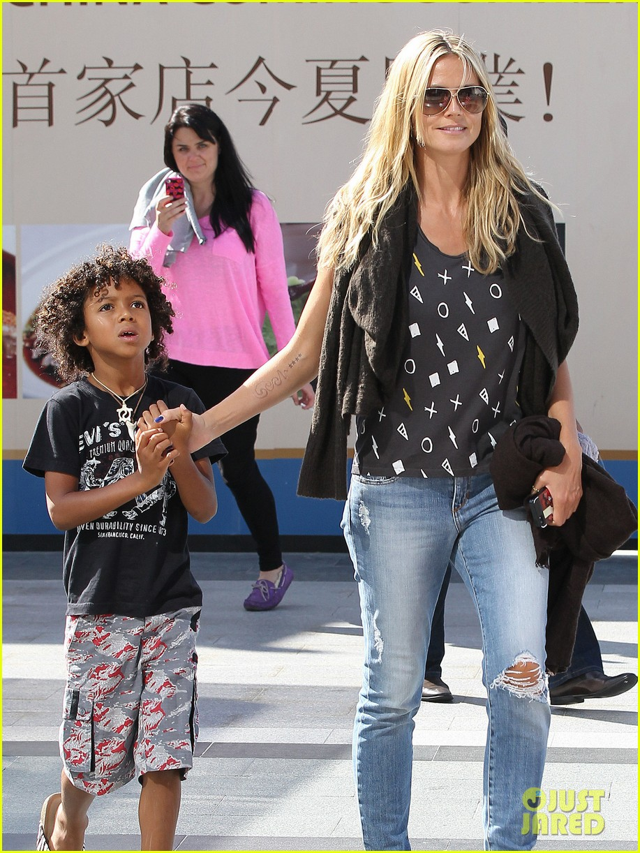 heidi klum enjoys family movie afternoon 24