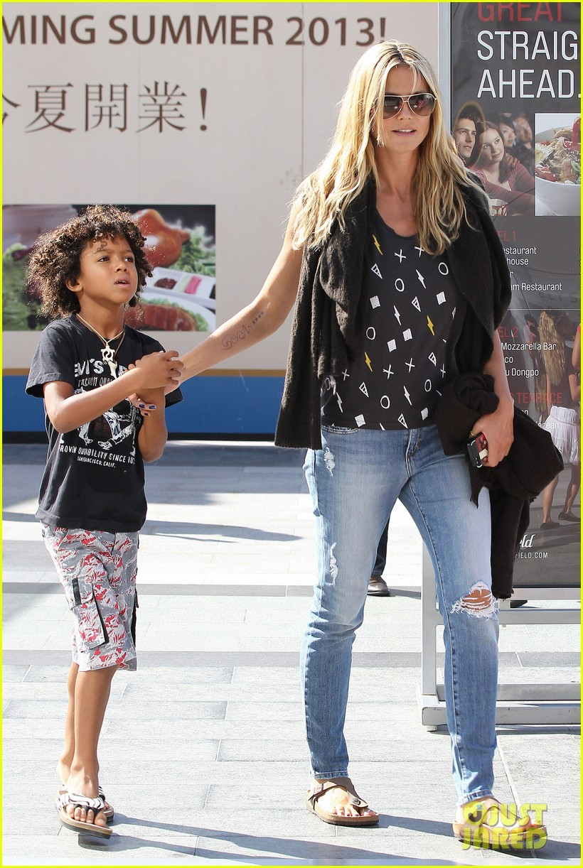 heidi klum enjoys family movie afternoon 262923820