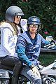heidi klum martin kirsten motorcycle ride without kids 02