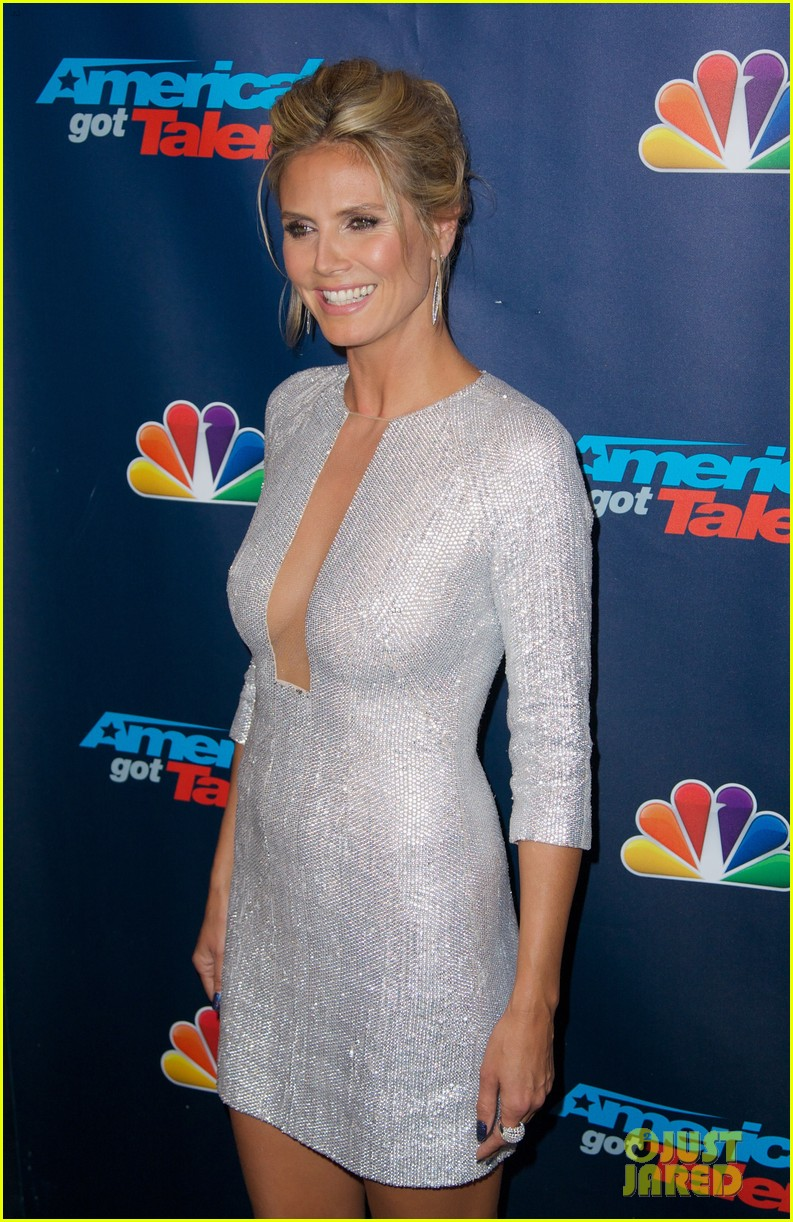 heidi klum project runway visit at america's got talent 122935316