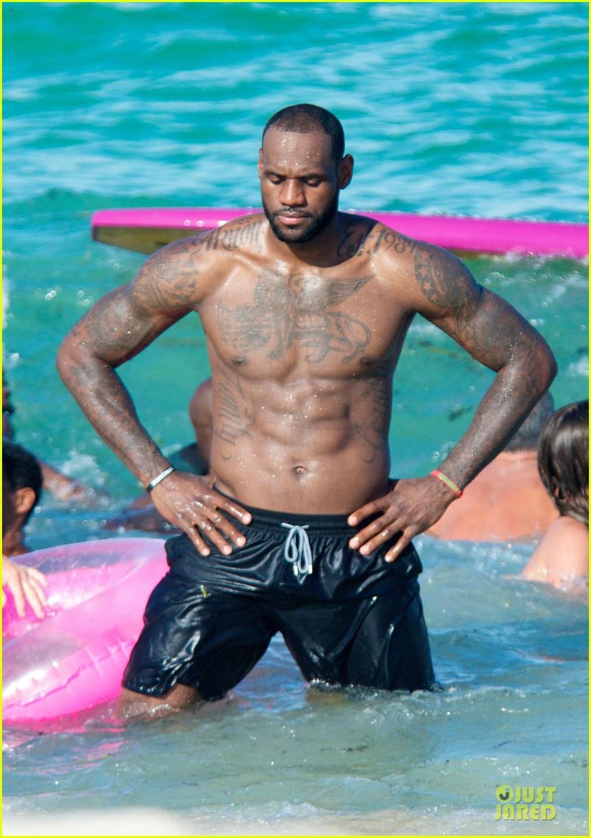 lebron james shirtless nike commercial shoot 022932111