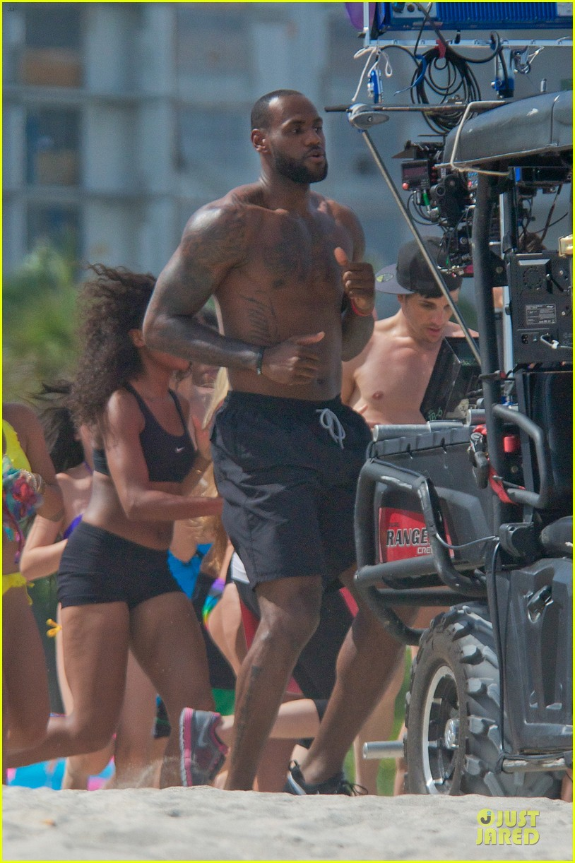 lebron james shirtless nike commercial shoot 142932123