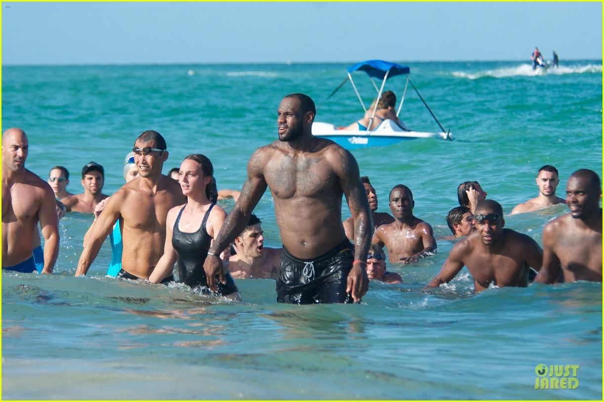 lebron james shirtless nike commercial shoot 152932124