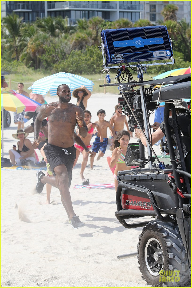 lebron james shirtless nike commercial shoot 34