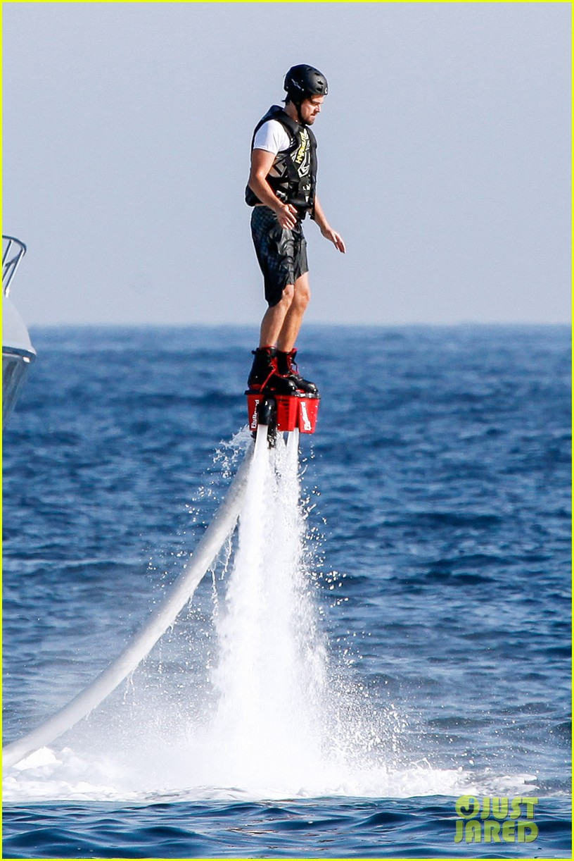 leonardo dicaprio flyboards in the air during ibiza vacation 012925473