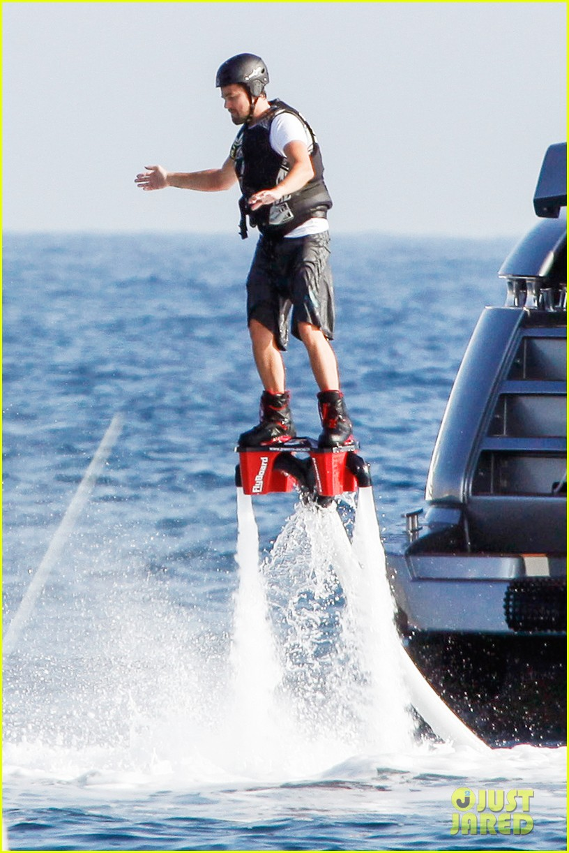 leonardo dicaprio flyboards in the air during ibiza vacation 032925475