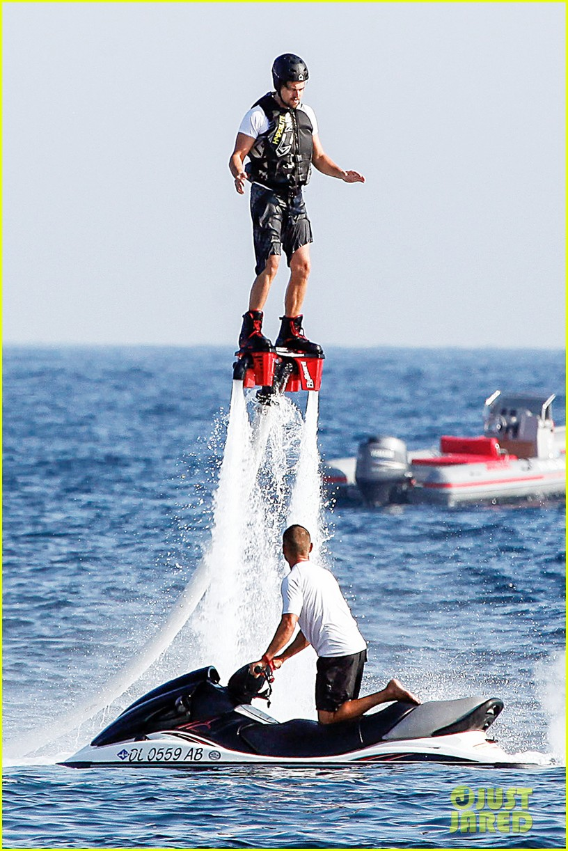 leonardo dicaprio flyboards in the air during ibiza vacation 082925480