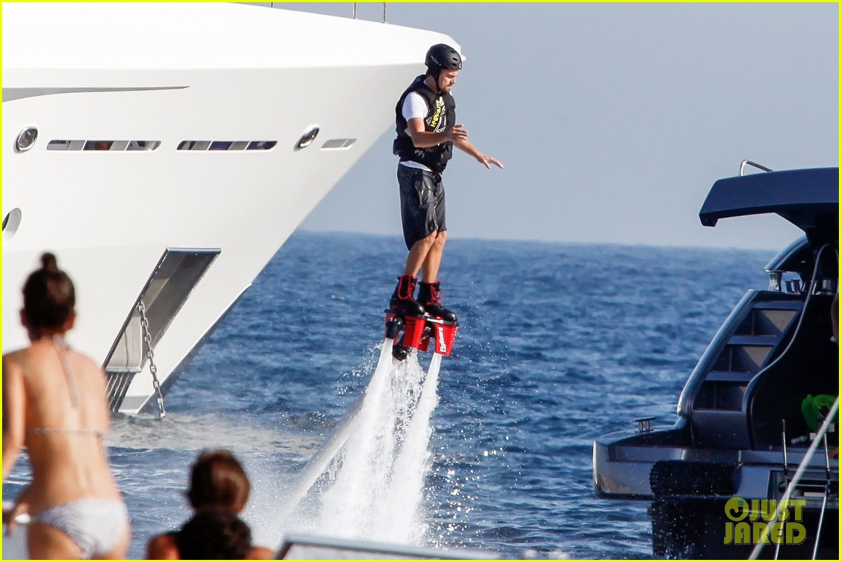 leonardo dicaprio flyboards in the air during ibiza vacation 102925482