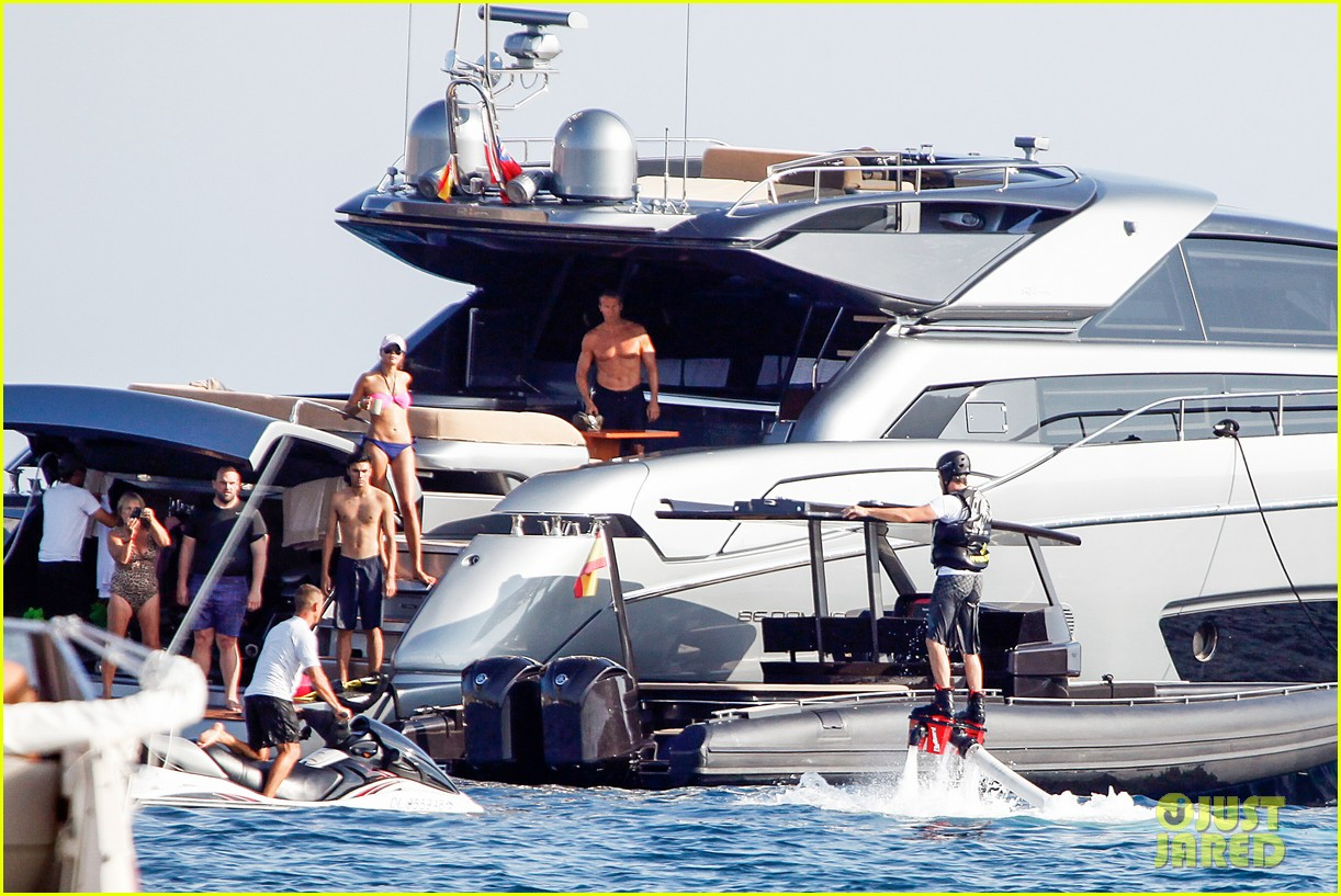 leonardo dicaprio flyboards in the air during ibiza vacation 112925483