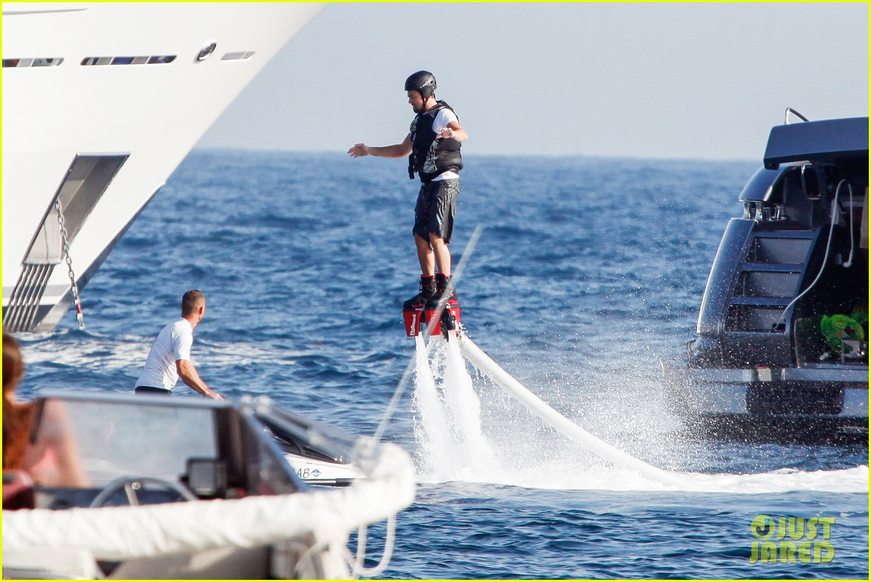 leonardo dicaprio flyboards in the air during ibiza vacation 122925484