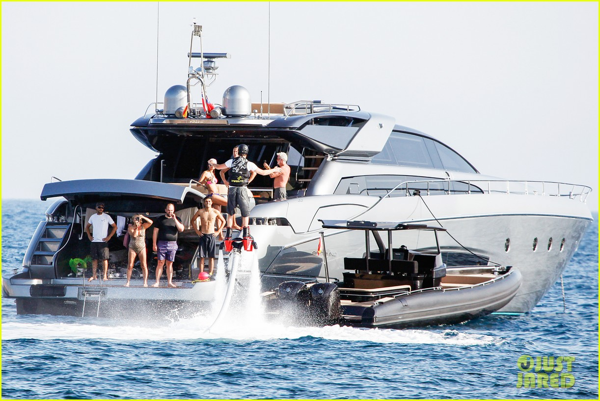 leonardo dicaprio flyboards in the air during ibiza vacation 142925486