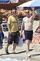 shirtless damian lewis bikini clad helen mccrory kiss in ibiza 18