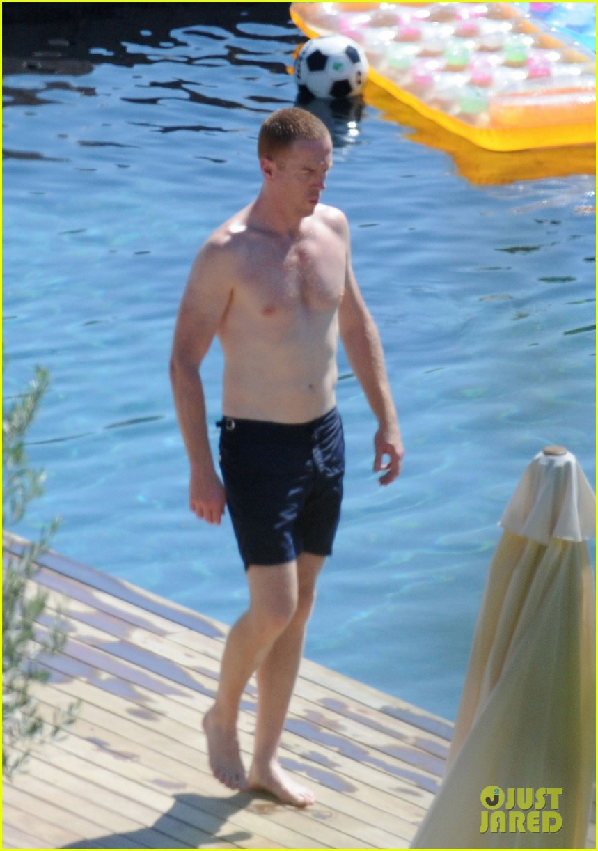 damian lewis shirtless family vacation in ibiza 012930107