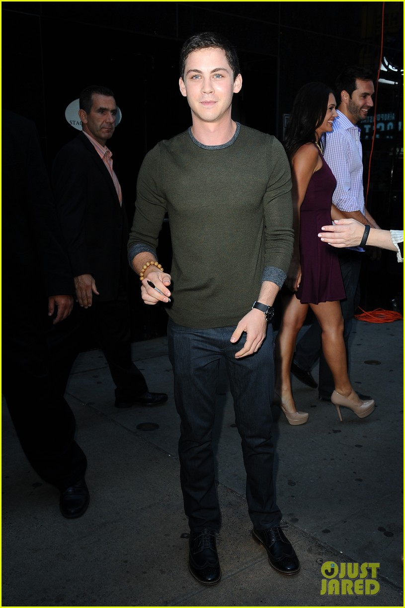 logan lerman chris colfer promote on gma 032924857