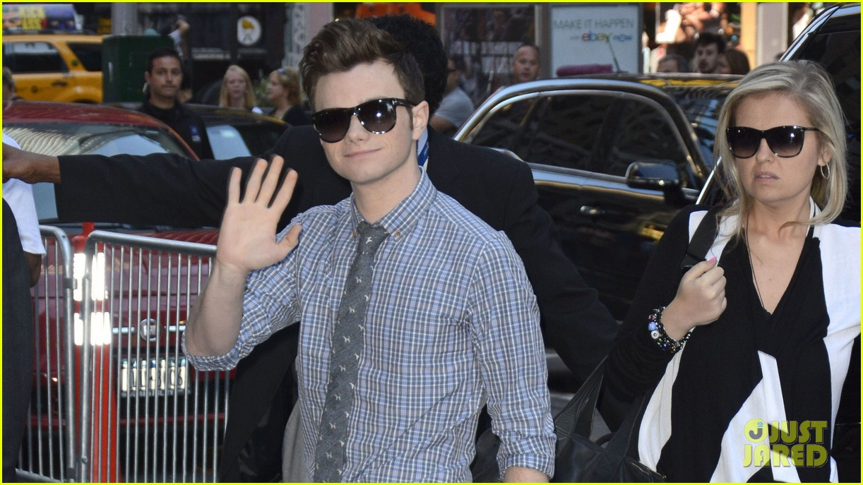 logan lerman chris colfer promote on gma 04