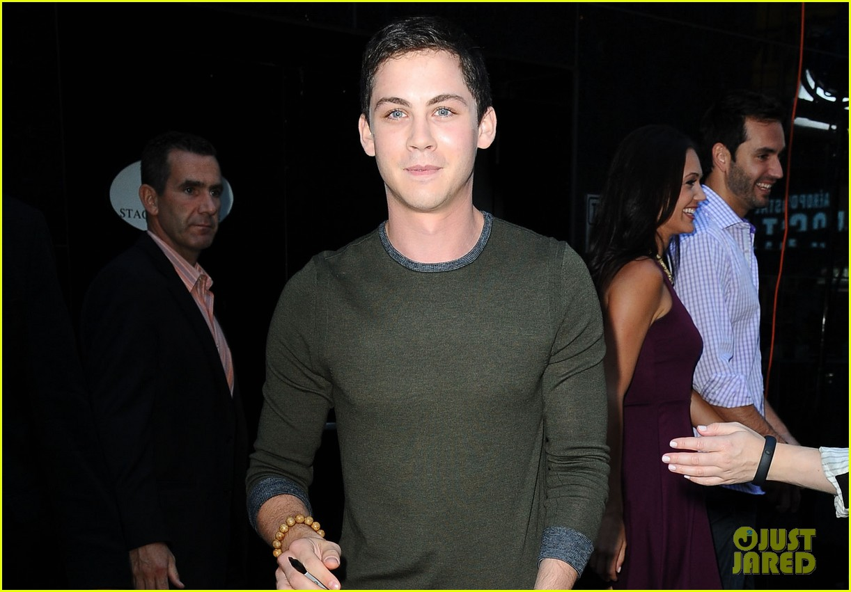 logan lerman chris colfer promote on gma 062924860