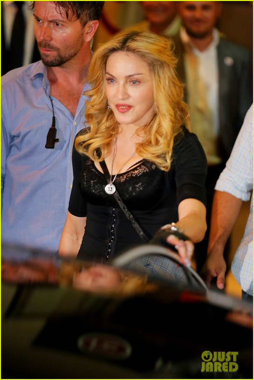 madonna rocks gold grills at the hard candy fitness center 012935294