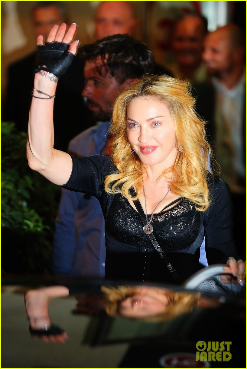 madonna rocks gold grills at the hard candy fitness center 082935301