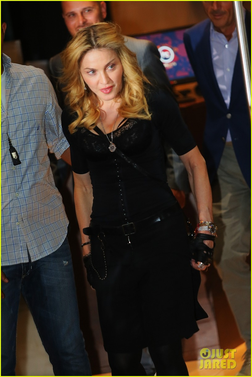 madonna rocks gold grills at the hard candy fitness center 112935304