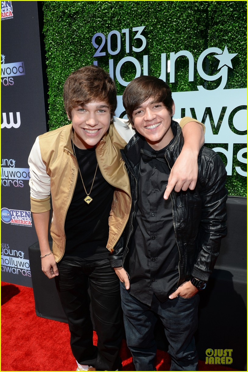 austin mahone becky g young hollywood awards 2013 red carpet 052921741