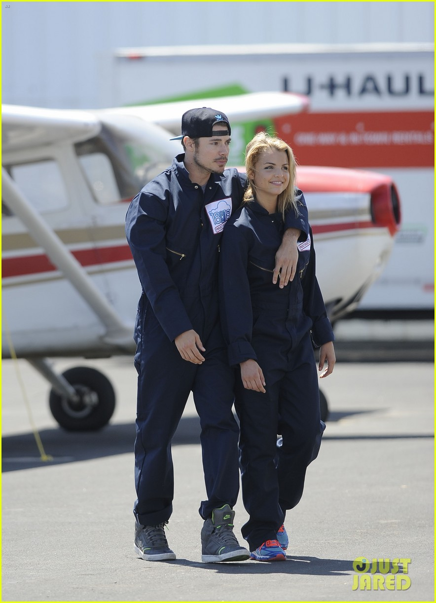 annalynne mccord josh henderson skydiving for a cause 052932434