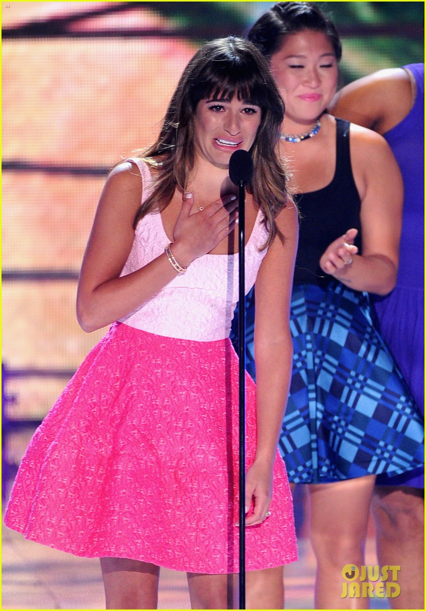 lea michele teen choice awards speech video watch now 112928280