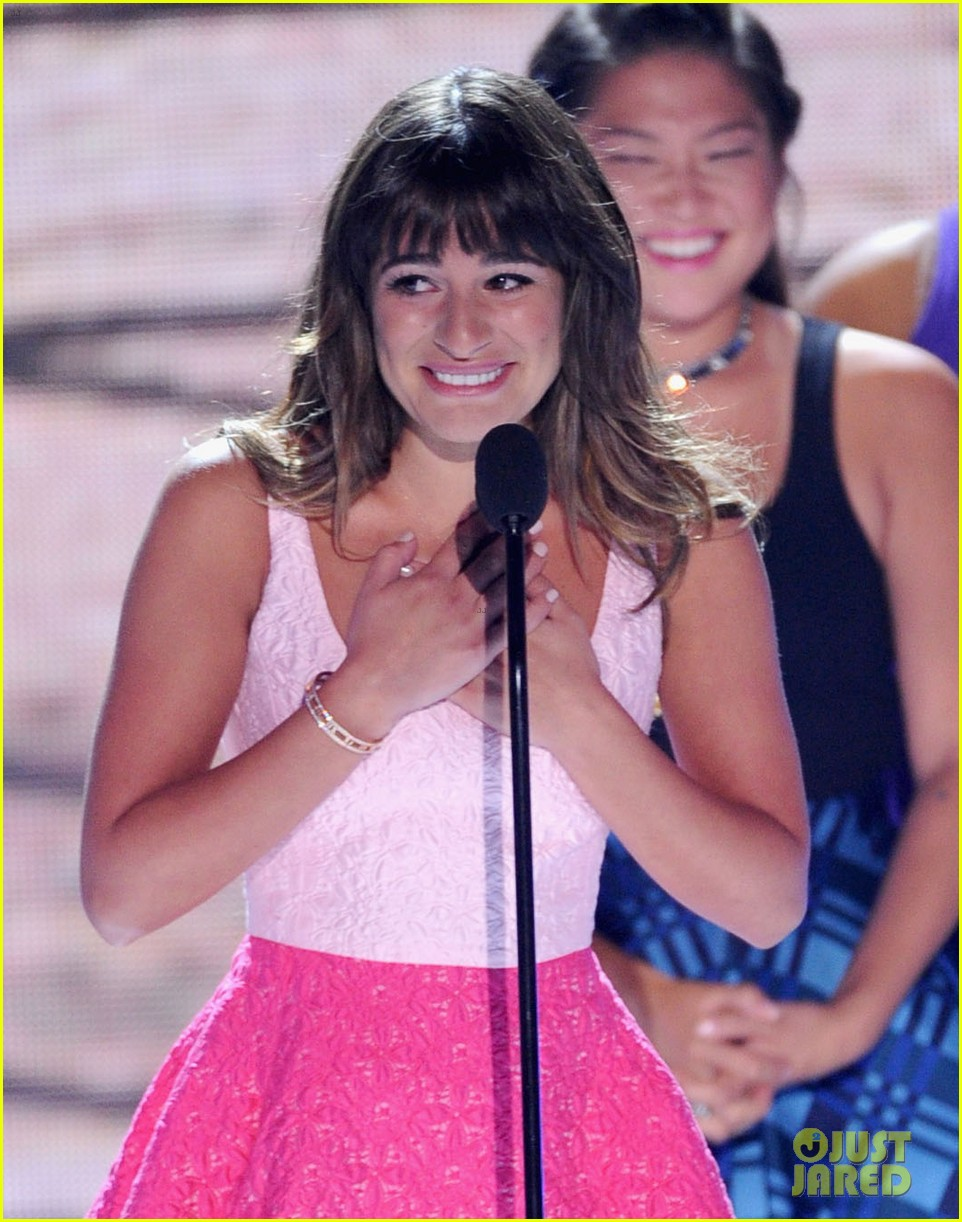 lea michele teen choice awards speech video watch now 132928282
