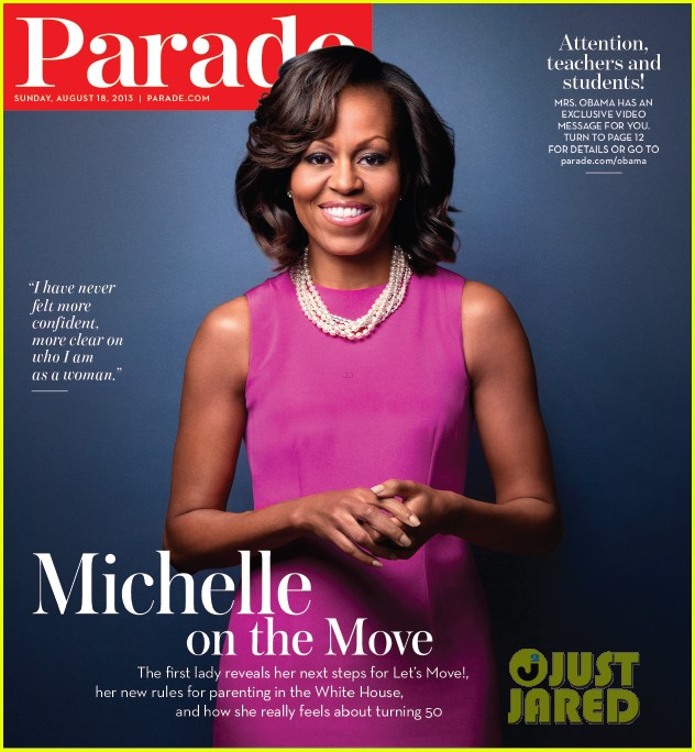 michelle obama covers parade 012930757