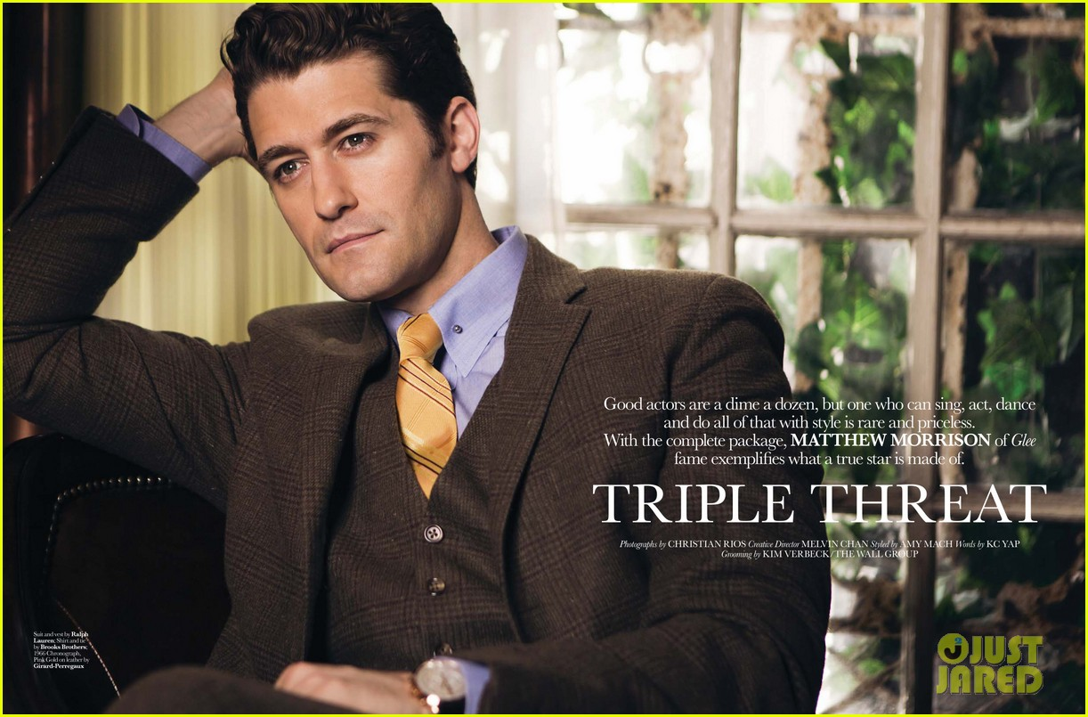 matthew morrison covers august man movement august 2013 072927201