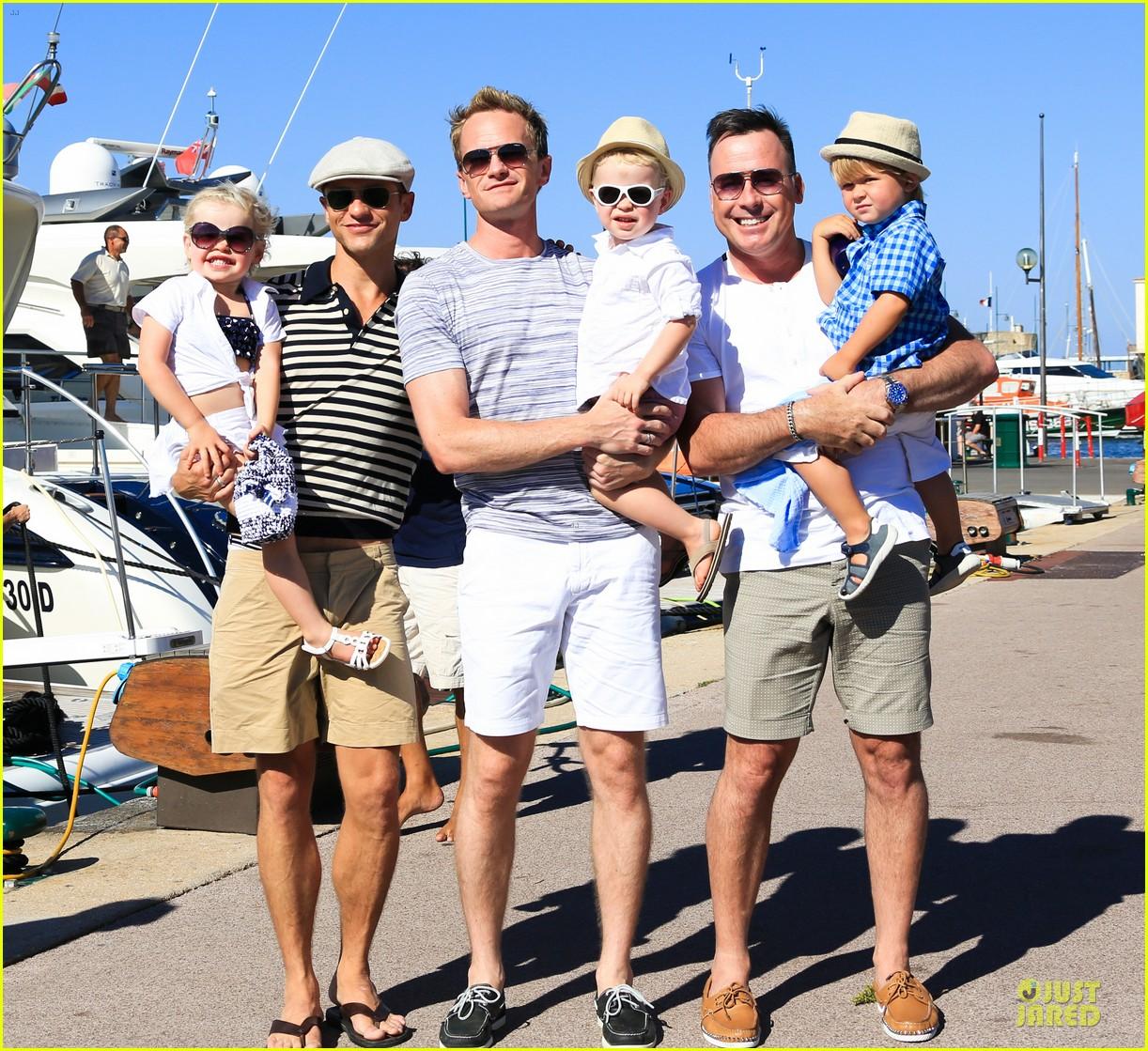 neil patrick harris shirtless vacation with david burtka