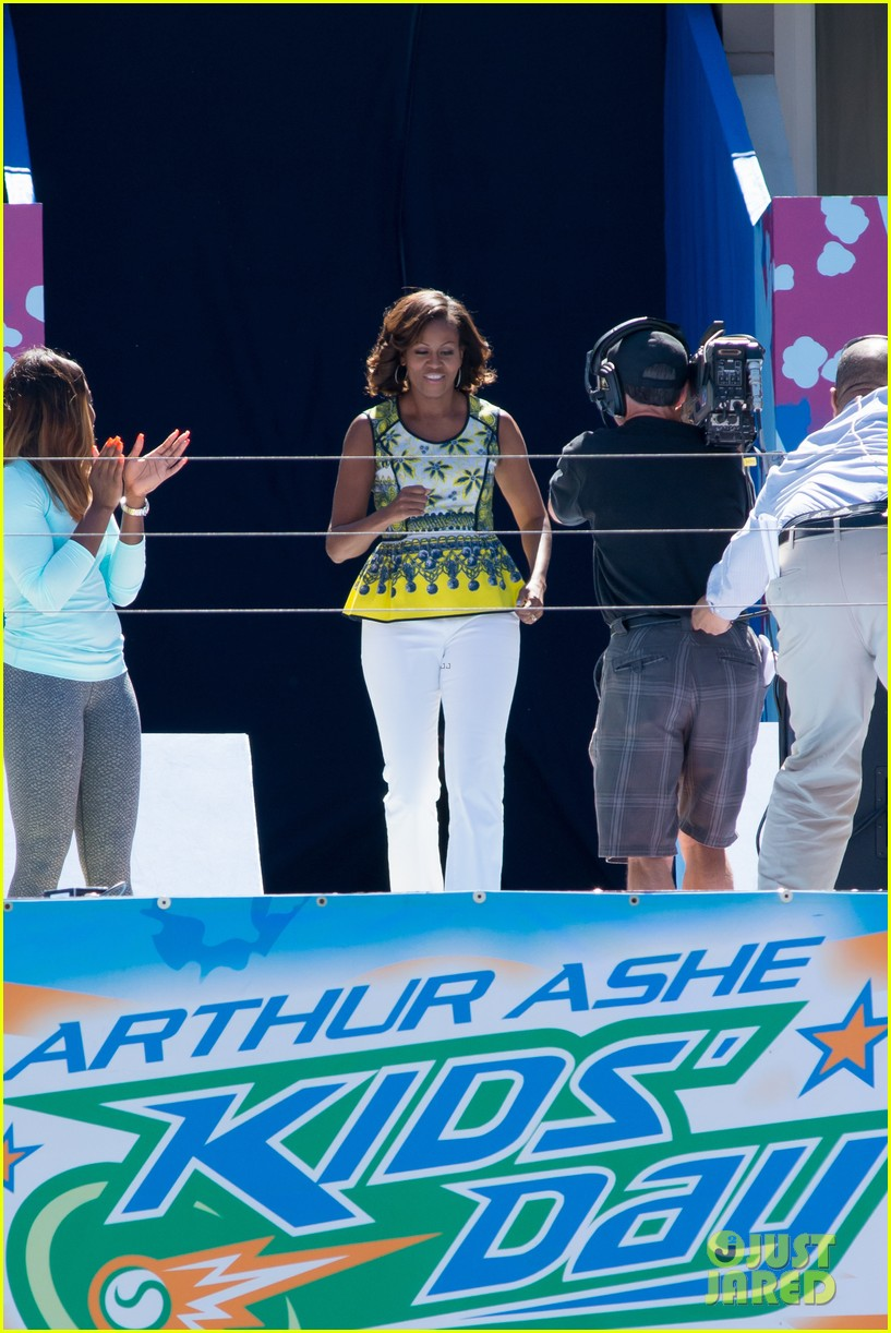 michelle obama ariana grande arthur ashe kids day 2013 202937073