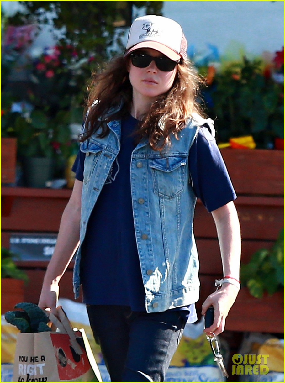 ellen page grocery shops after caution tape day 12