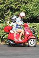 gwyneth paltrow apple moped to coffee shop 02
