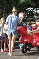 gwyneth paltrow apple moped to coffee shop 08