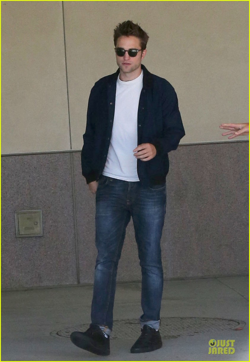 robert pattinson cool office building exit 12