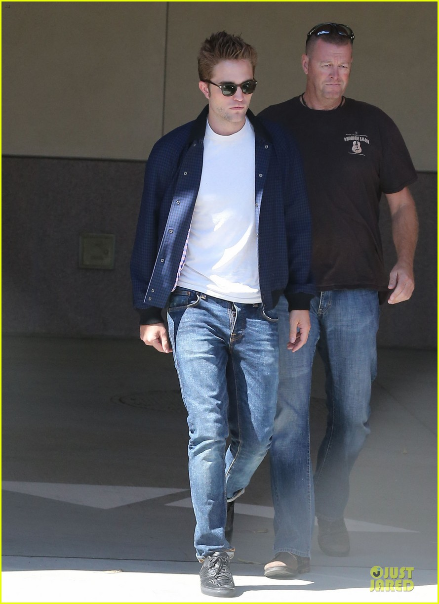 robert pattinson cool office building exit 232931605