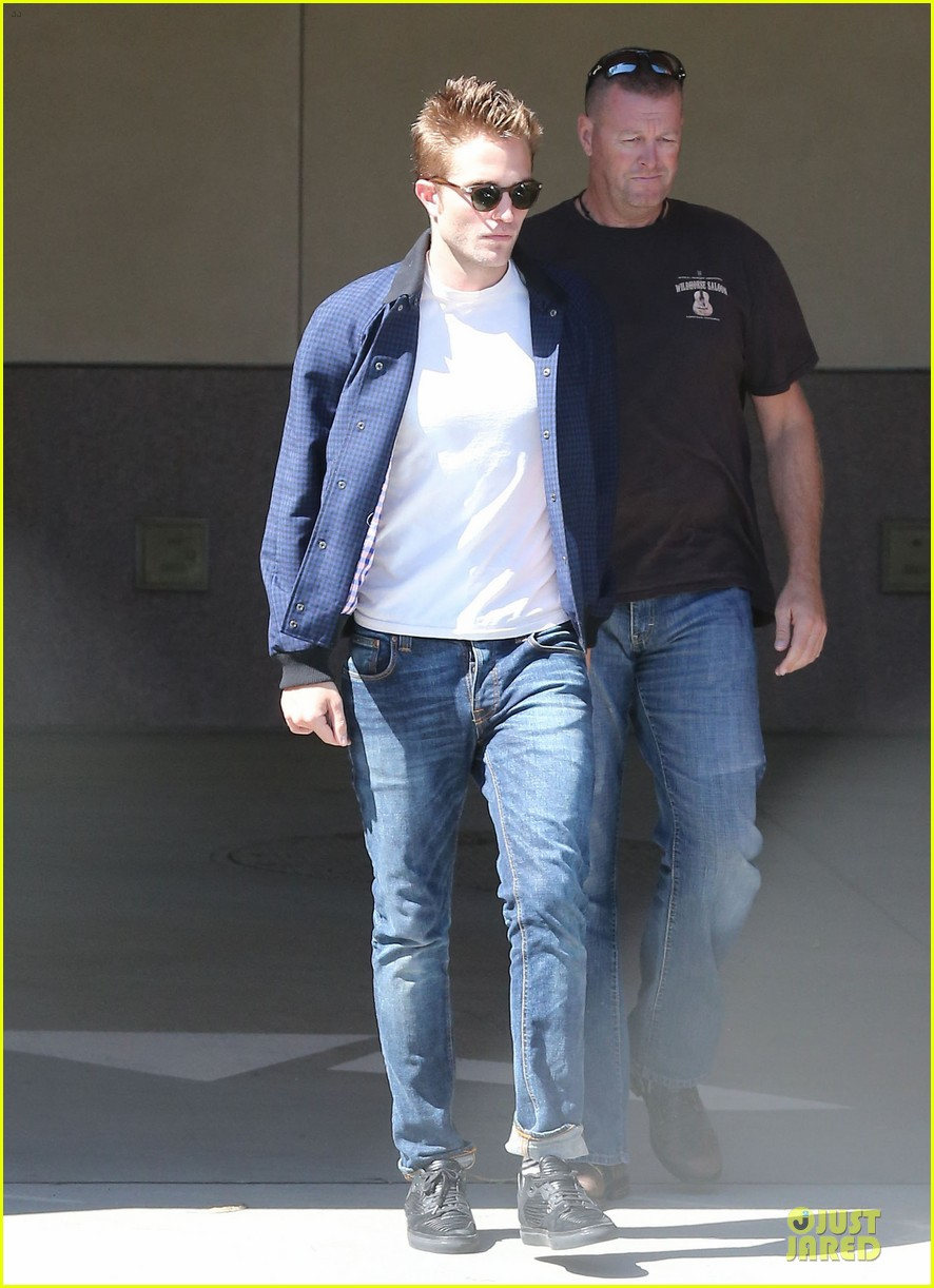 robert pattinson cool office building exit 242931606