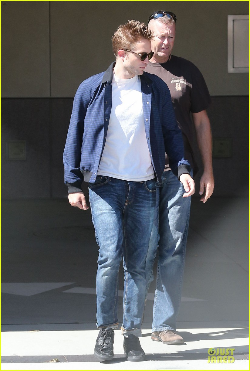 robert pattinson cool office building exit 262931608