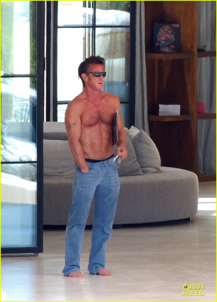 sean penn shirtless ripped on ibiza vacation 062928332