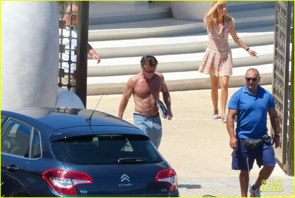 sean penn shirtless ripped on ibiza vacation 072928333