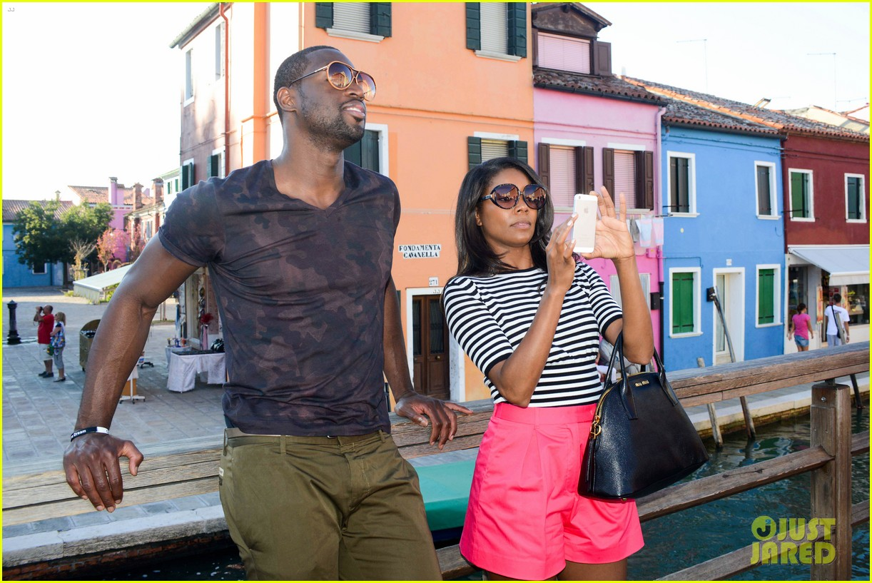 freida pinto venice sightseeing with gabrielle union dwyane wade 152941070