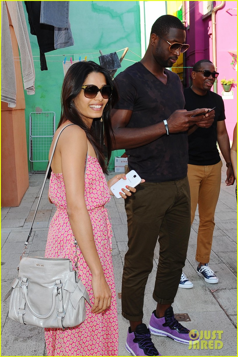 freida pinto venice sightseeing with gabrielle union dwyane wade 292941084