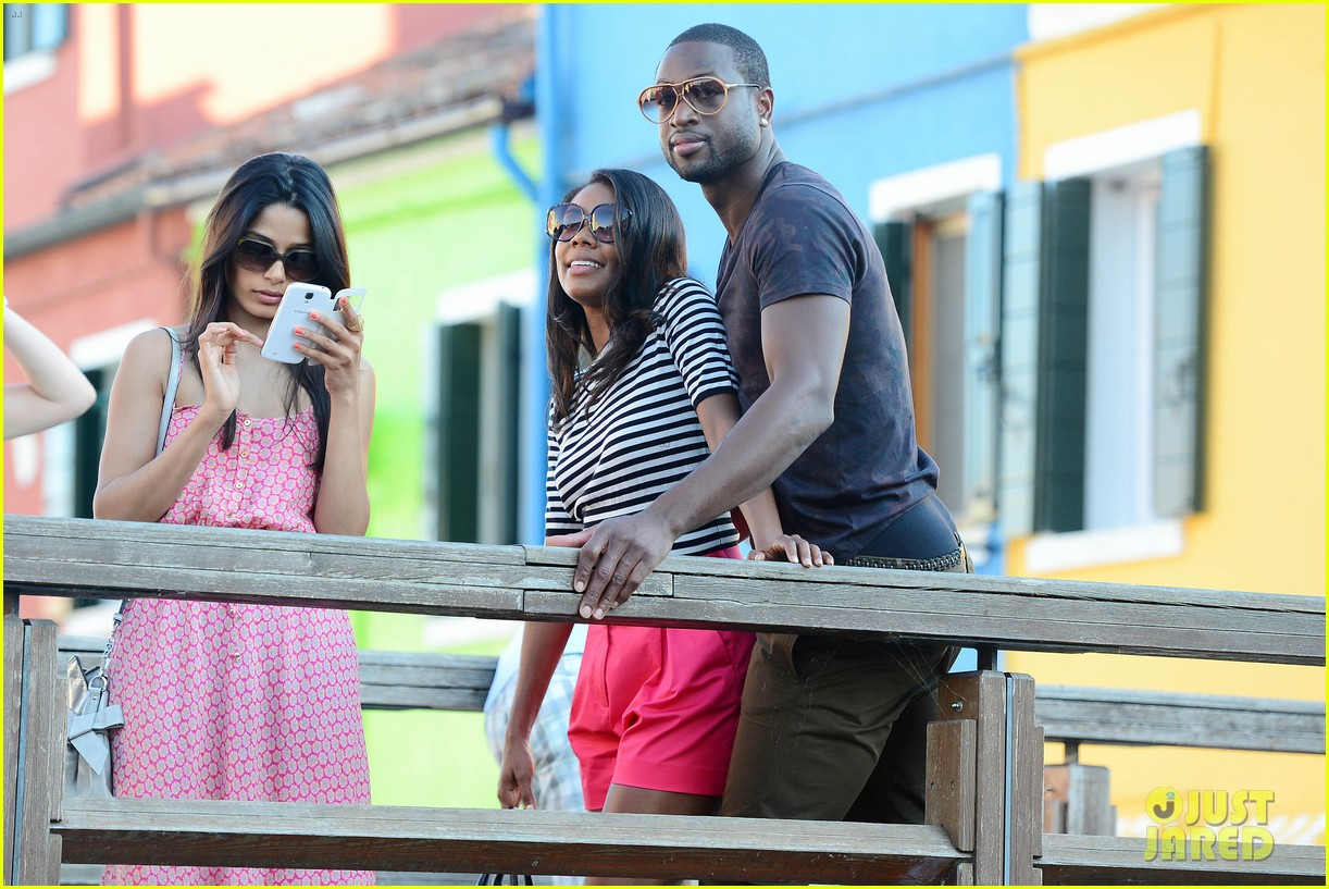 freida pinto venice sightseeing with gabrielle union dwyane wade 302941085