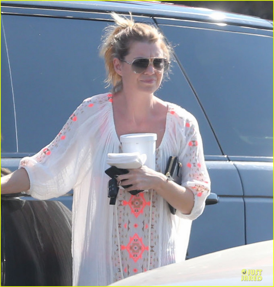 ellen pompeo sports sheer dress for ice cream stop 04